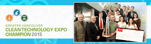 Greater Vancouver Clean Technology Expo Champion 2015