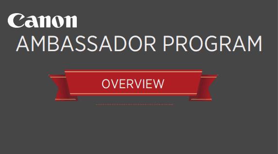 Canon Ambassador Program
